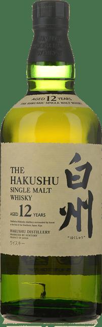 SUNTORY Hakushu 12 Year Old Japanese Whisky 43% ABV, Japan NV