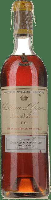 CHATEAU D'YQUEM 1er cru superieur, Sauternes 1961