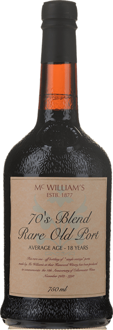 MCWILLIAM'S 1970's Blend Rare Old Port, New South Wales NV
