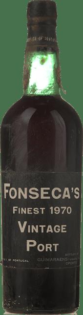 FONSECA'S Vintage Port, Oporto 1970