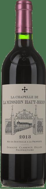 LA CHAPELLE DE LA MISSION HAUT-BRION Second Wine of Chateau La Mission Haut-Brion, Graves 2013