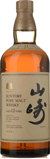 SUNTORY Yamazaki 12 Year Old Single Malt Japanese Whisky 43% ABV, Japan NV