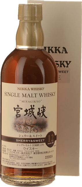 MIYAGIKYO 12 Years Old Sherry & Sweet 55% ABV Whisky, Japan NV
