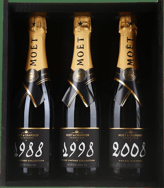 MOET Grand Vintage Trilogy Blanc 1988, 1998, 2008, Champagne MV