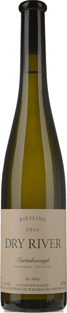 DRY RIVER Craighall Riesling, Martinborough 2016
