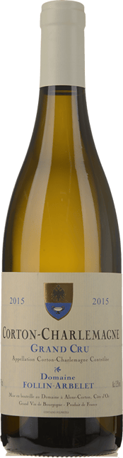 DOMAINE FOLLIN-ARBELET, Corton-Charlemagne 2015