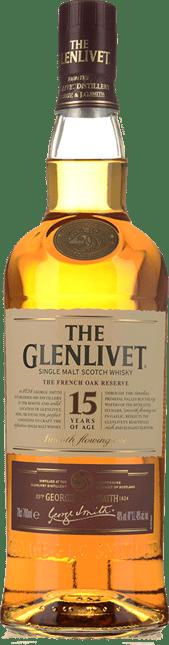THE GLENLIVET French Oak Reserve 15 Years Old Single Malt Whisky NV