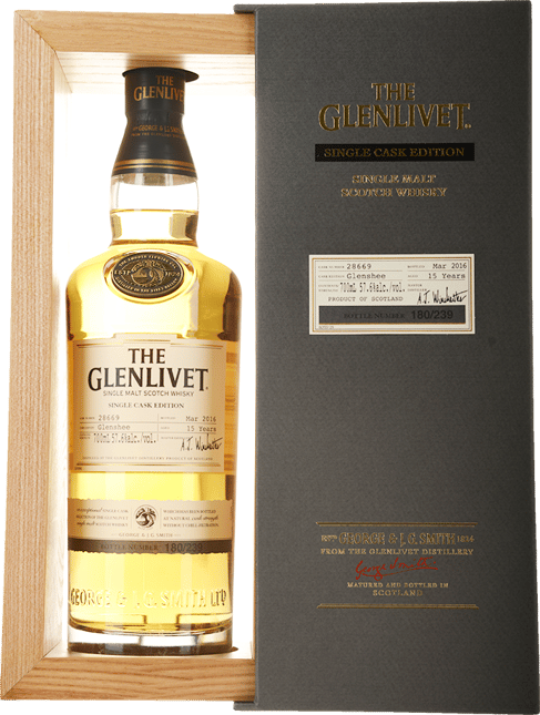 THE GLENLIVET Glenshee Single Cask Edition 15 Years Old Single Malt Scotch Whisky, Scotland NV
