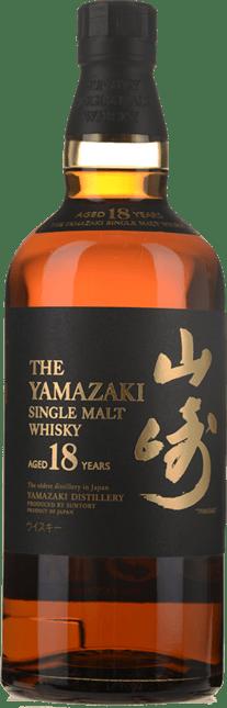 SUNTORY Yamazaki 18 Year Old Japanese Whisky 43% ABV, Japan NV