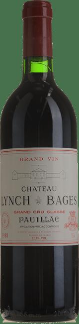 CHATEAU LYNCH-BAGES 5me cru classe, Pauillac 1988