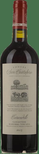PODERE SAN CRISTOFORO, Carandelle, Sangiovese Maremma Toscana DOC 2015