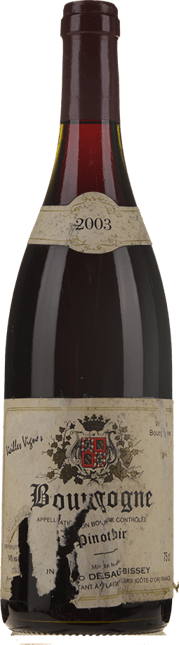BRUNO DESAUNAY-BISSEY Vieilles Vignes, Bourgogne Rouge 2003
