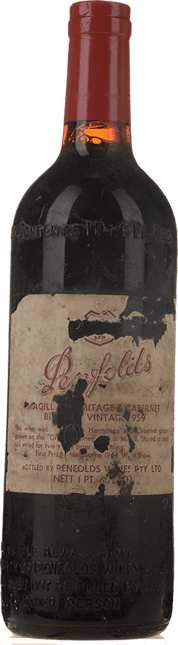 PENFOLDS Bin 465 Magill Hermitage Cabernet, Adelaide 1959