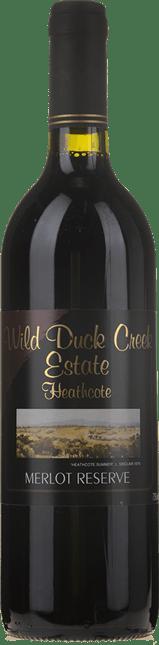 WILD DUCK CREEK ESTATE Reserve Merlot, Heathcote 2001