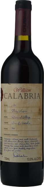 WESTEND ESTATE William Calabria Bin A21 Shiraz Viognier, Riverina-Hilltops 2011