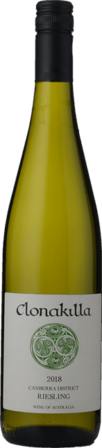 CLONAKILLA Riesling, Canberra District 2018