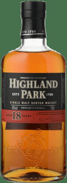 HIGHLAND PARK 18 Years Old 43% ABV, Scotland NV