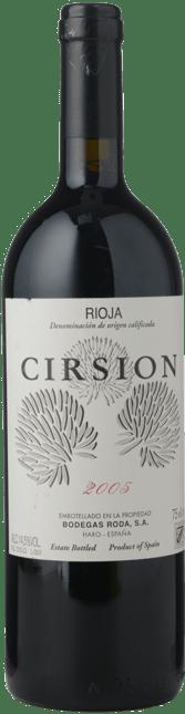 BODEGAS RODA Cirsion, Rioja 2005