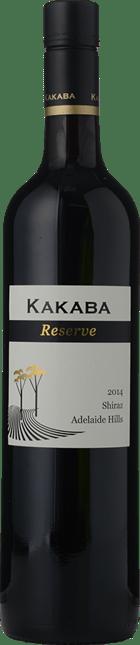 KAKABA WINES Reserve Shiraz, Adelaide Hills 2014
