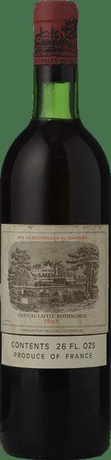 CHATEAU LAFITE-ROTHSCHILD 1er cru classe, Pauillac 1965