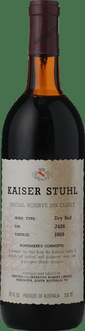 KAISER STUHL Bin  J426 Dry Red, Barossa Valley 1966