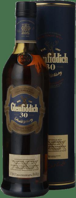 GLENFIDDICH 30 Year Old Single Malt Scotch Whisky 40% ABV, Scotland NV