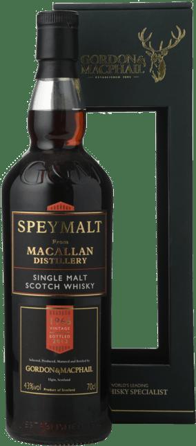GORDON & MACPHAIL Speymalt from Macallan Distillery ABV43% Scotland 1966