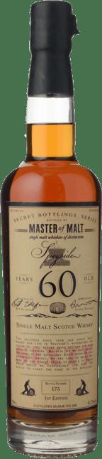 MASTER OF MALT Speyside 60 Y.O. 42.2 ABV, Speyside NV