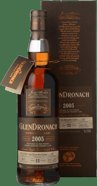 THE GLENDRONACH Distilled 2005 Single Cask 12Y.O. 56.1% A.B.V. Scotch Whisky, Single Malt Whisky 2005