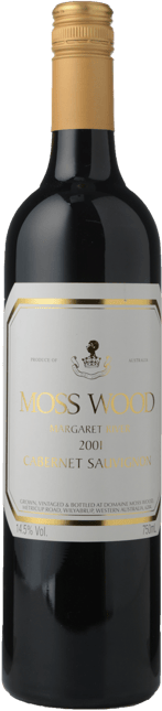 MOSS WOOD Moss Wood Vineyard Cabernet Sauvignon, Margaret River 2001