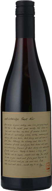 LETHBRIDGE Pinot Noir, Geelong 2018