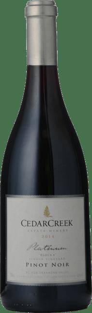 CEDAR CREEK ESTATE Platinum Block 4 Pinot Noir, Okanagan Valley 2014