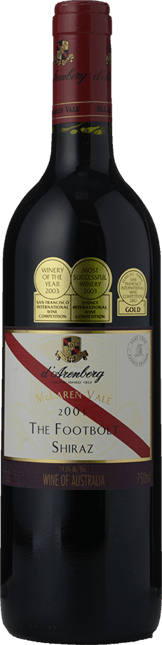 D'ARENBERG WINES The Footbolt Old Vine Shiraz, McLaren Vale 2001