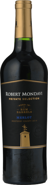 ROBERT MONDAVI Private Selection Rum Barrels Merlot, Monterey AVA, Central Coast 2018