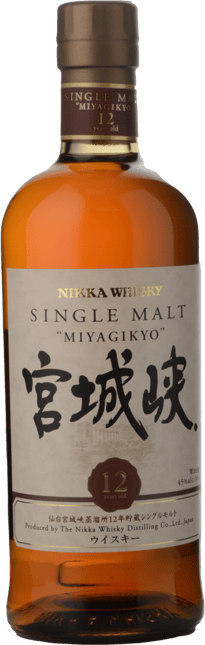 THE NIKKA WHISKY DISTILLING CO Miyagikyo 12 Year Old 45% ABV Single Malt Whisky, Japan NV