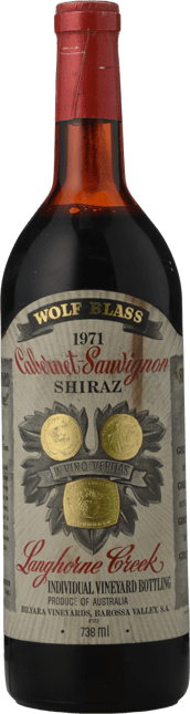 WOLF BLASS WINES Cabernet Shiraz, Langhorne Creek 1971