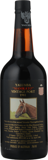 YALUMBA Manikato Vintage Port, Barossa Valley 1981