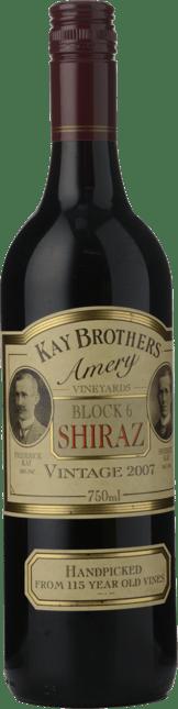 KAY BROS AMERY Block 6 Old Vine Shiraz, McLaren Vale 2007