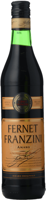 FRANZINI Fernet Franzini Amaro 40% ABV Liqueur, Italy NV