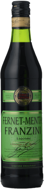 FRANZINI Fernet Menta 35% ABV Liqueur, Italy NV