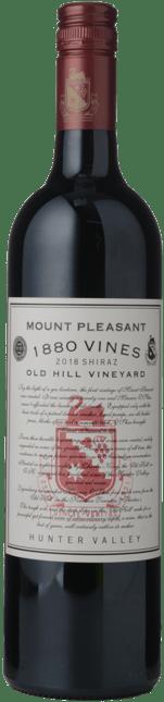 MOUNT PLEASANT 1880 Vines Old Hill Vineyard Shiraz, Hunter Valley 2018