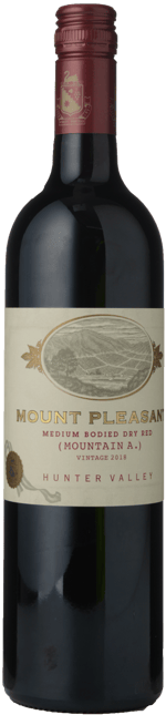 MOUNT PLEASANT Mountain A Medium Bodied Dry Red, Hunter Valley 2018