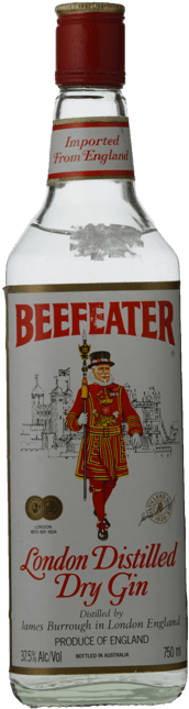 BEEFEATER London Distilled Dry Gin 37.5% ABV Gin, London NV
