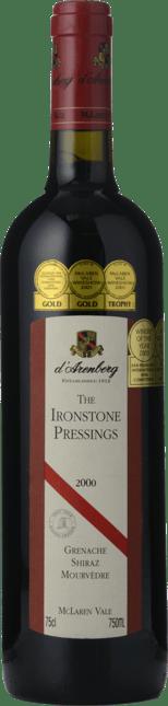 D'ARENBERG WINES The Ironstone Pressings Grenache Shiraz Mourvedre, McLaren Vale 2000