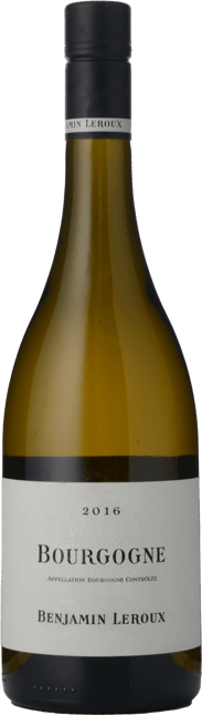 BENJAMIN LEROUX, Bourgogne Blanc 2016