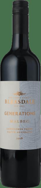 BLEASDALE VINEYARD Generations Malbec, Langhorne Creek 2018