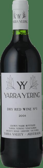 YARRA YERING Dry Red Wine No.1 Cabernets, Yarra Valley 2004