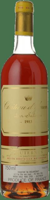 CHATEAU D'YQUEM 1er cru superieur, Sauternes 1983