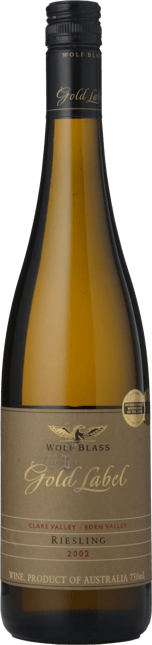 WOLF BLASS WINES Gold Label Riesling, Eden-Clare Valley 2002