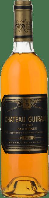 CHATEAU GUIRAUD 1er cru classe, Sauternes 1981